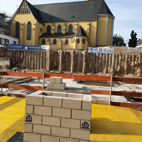 Der Grundstein für Haus 1 der Neuen Mitte Porz © Jasmin Schwarz