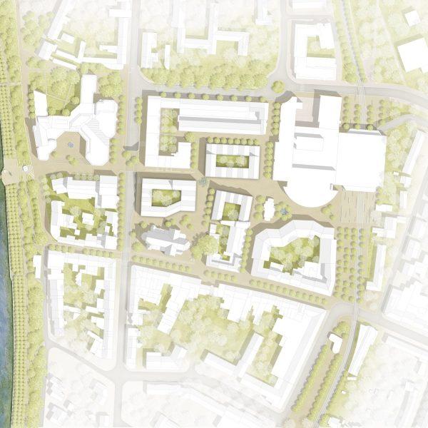 Die Flächen der Neuen Mitte Porz gehören zum Realisierungsteil, der zeitnah umgesetzt wird. Der Ideenteil erstreckt sich darüber hinaus. © club L94