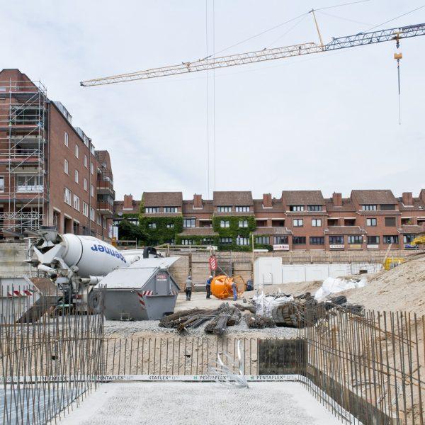 Die Baugrube mit Blick in Richtung Wilhelmstraße © Dörthe Boxberg