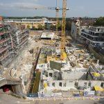 Die Baustelle der Neuen Mitte Porz aus der Vogelperspektive © Dörthe Boxberg