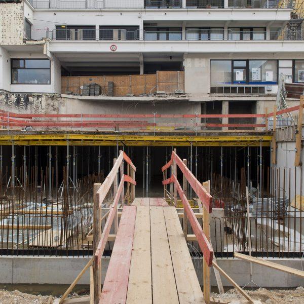 Übergang zu bestehenden Bauwerken © Dörthe Boxberg