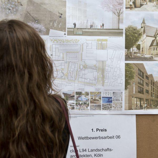 Planung des Freiraumes um die Neue Mitte Porz © Dörthe Boxberg