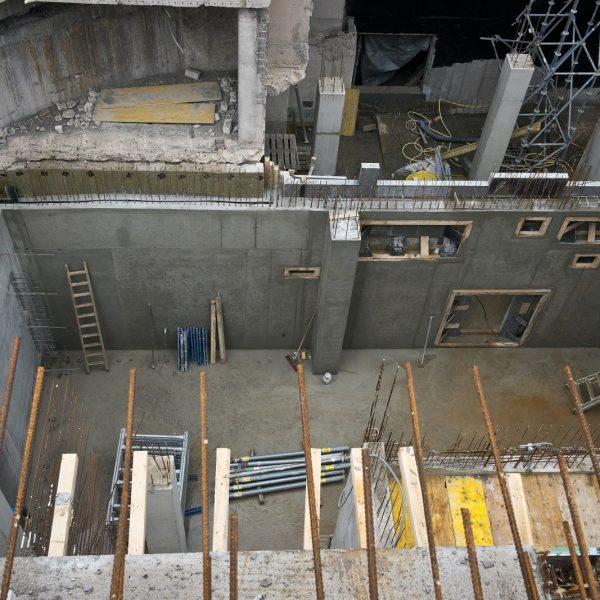 Die spätere Lüftungszentrale im Untergeschoss © Dörthe Boxberg