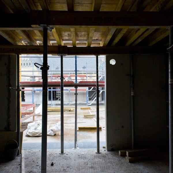 Innenraum einer künftigen Wohnung im 1. Obergeschoss © Dörthe Boxberg