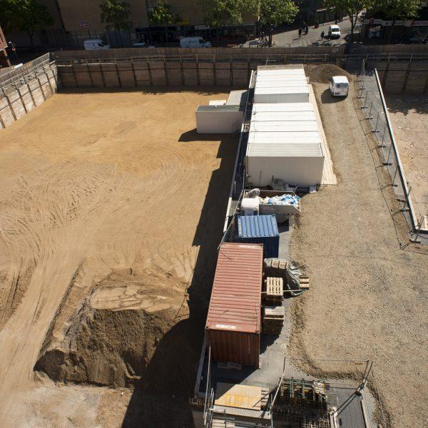 Blick auf die Baufelder 2 und 3 und die Decke des Verteilerbauwerkes © Dörthe Boxberg