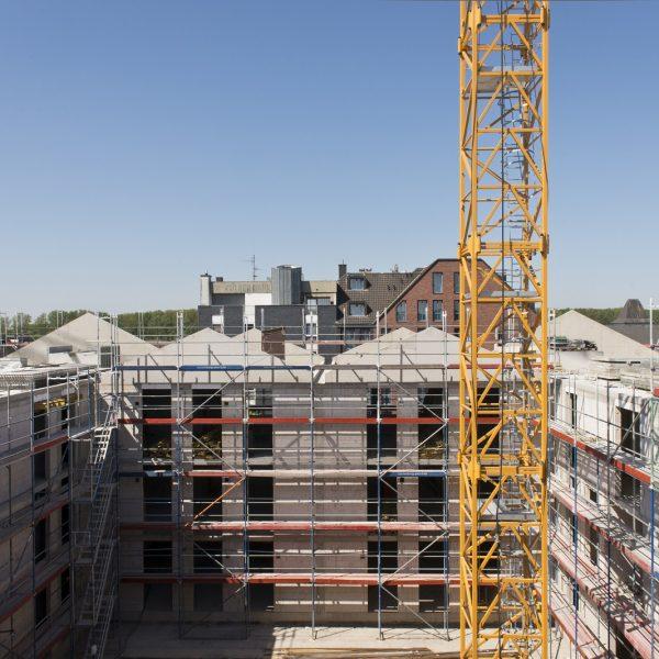 Blick auf den zukünftigen Innenhof von Haus 1 © Dörthe Boxberg