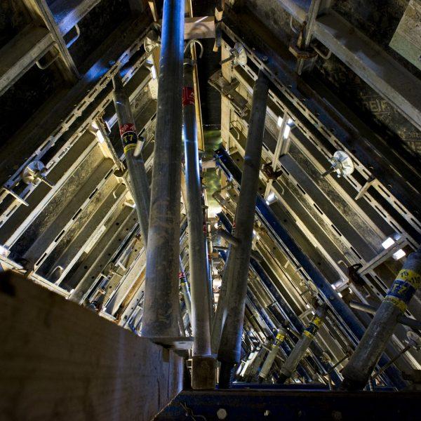 Schalkonstruktion im Firstbereich des Steildaches © Dörthe Boxberg