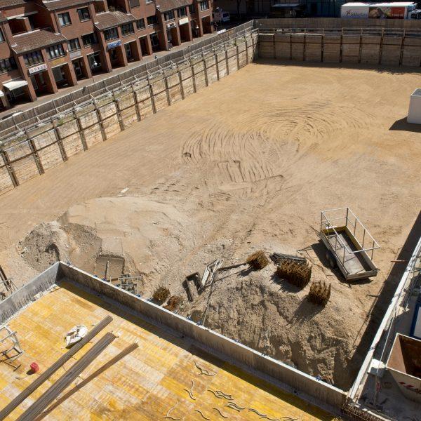 Blick in die Baugrube von Haus 2 © Dörthe Boxberg