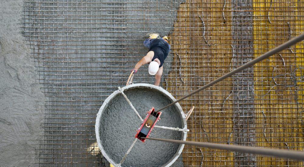 Betonage der Decke im Zufahrtsbereich zur Tiefgarage © Dörthe Boxberg