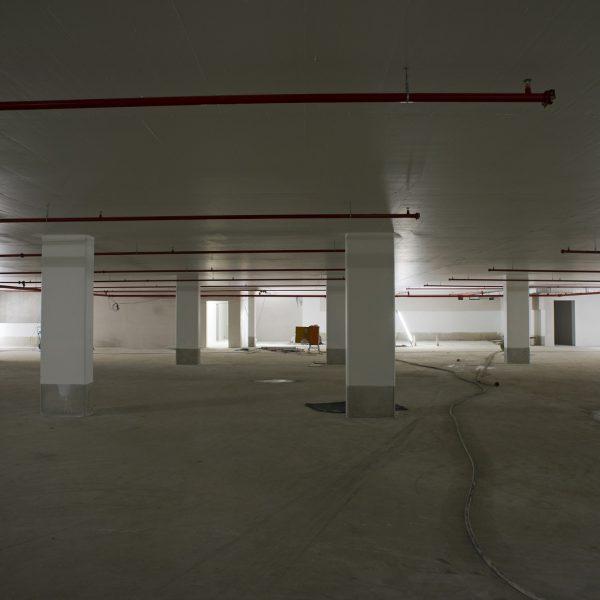 Tiefgaragenebene im 2. Untergeschoss unter Haus 1 © Dörthe Boxberg