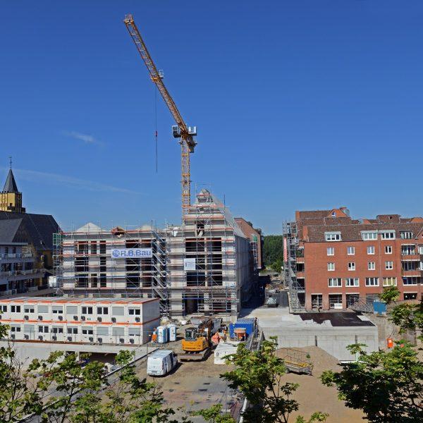 Blick vom City-Center auf die Großbaustelle der Neuen Mitte Porz © Dörthe Boxberg