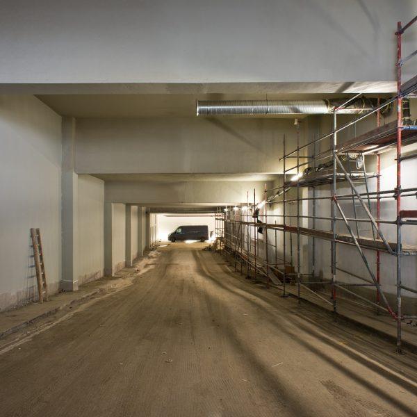 Sanierungsarbeiten an der Bestandsrampe kurz vor dem Abschluss © Dörthe Boxberg