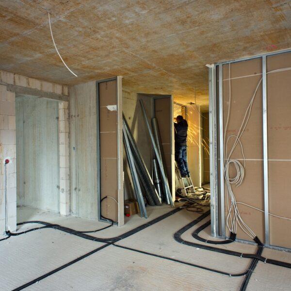 Trockenbauarbeiten in den Wohnungen © Dörthe Boxberg