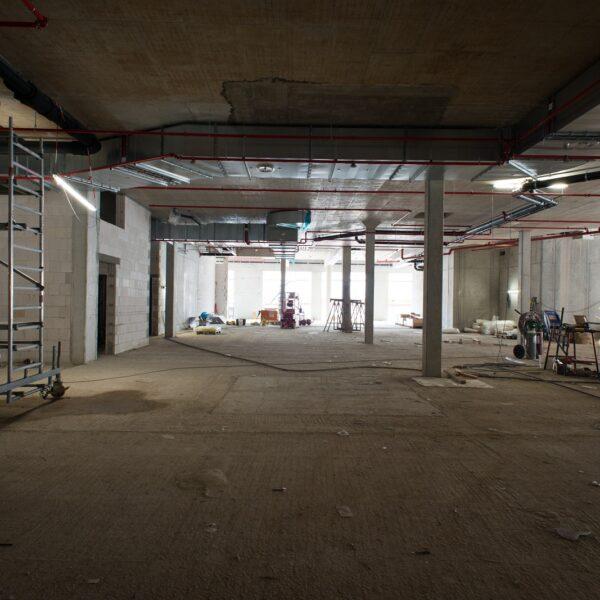 Montagearbeiten im Erdgeschoss © Dörthe Boxberg