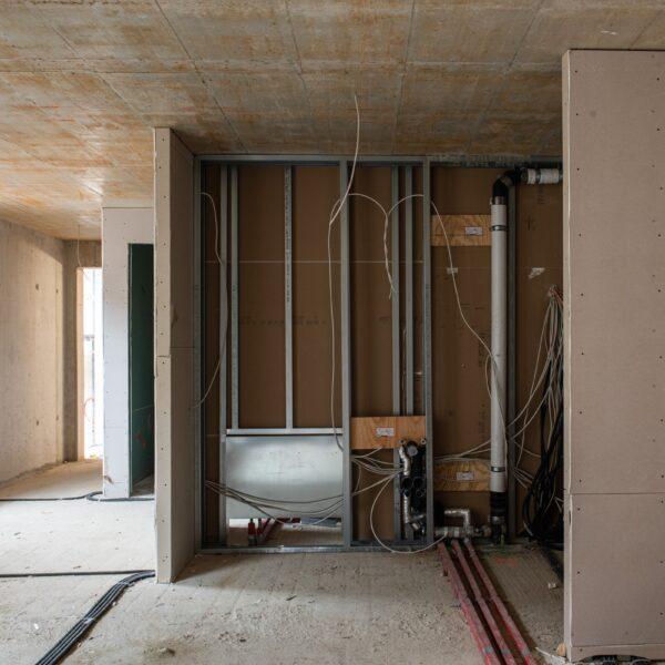 Ausbauarbeiten in den Wohngeschossen © Dörthe Boxberg