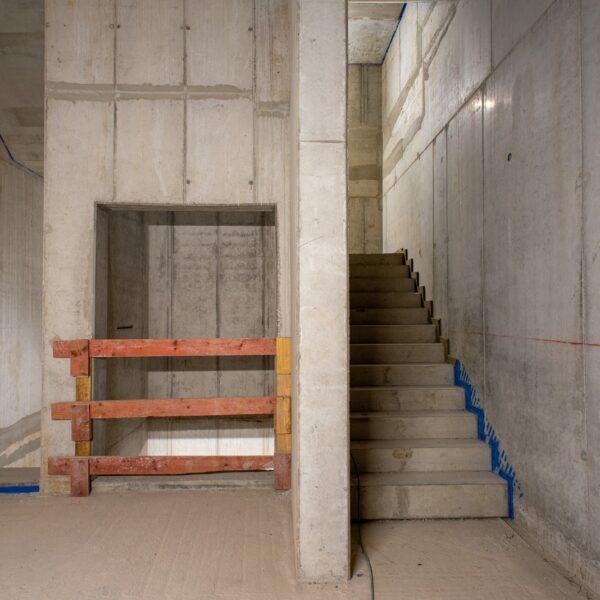 Treppenhaus im Rohbau © Dörthe Boxberg