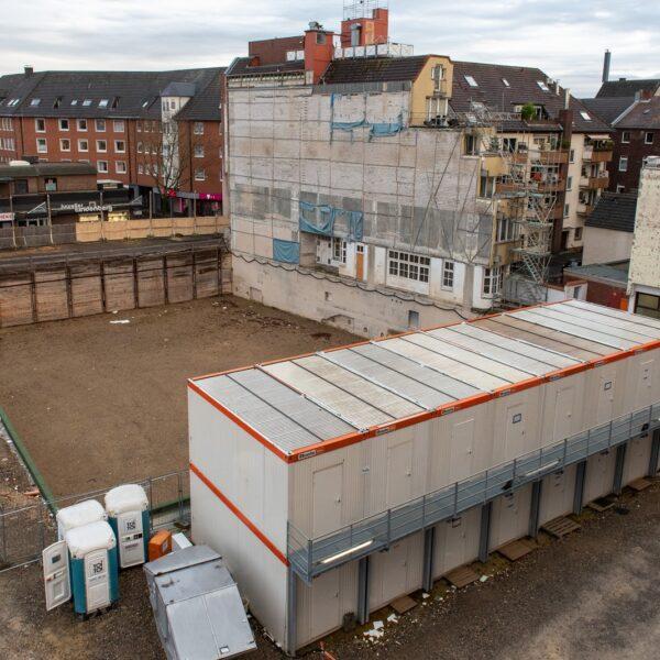 Blick auf das Baufeld von Haus 3 (ASWG) © Daniel Poštrak