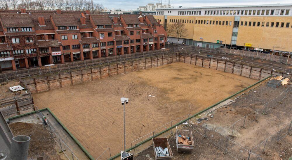 Blick auf das Baufeld von Haus 2 (Sahle-Wohnen) © Daniel Poštrak