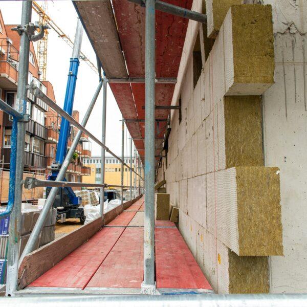 Fassadenarbeiten Haus 1 © Daniel Poštrak