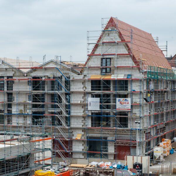 Blick auf die Ostfassade von Haus 1 Bild: Daniel Poštrak