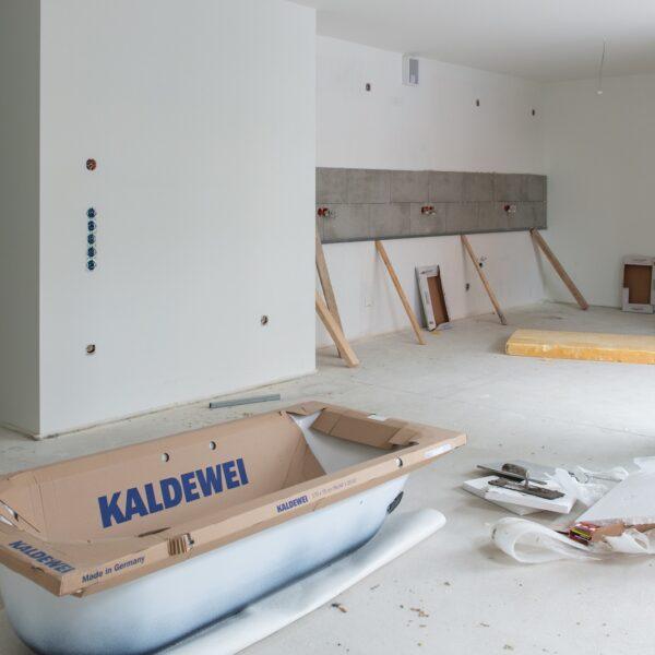 Sanitär- und Ausbauarbeiten in den Wohnungen Bild: Daniel Poštrak