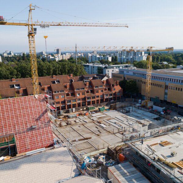 Blick über die Gesamtbaustelle Richtung Norden Bild: Moritz Gröne